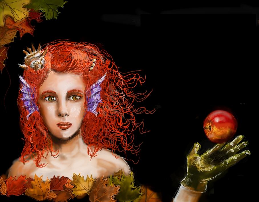 Autumn mermaid by mefistofaust