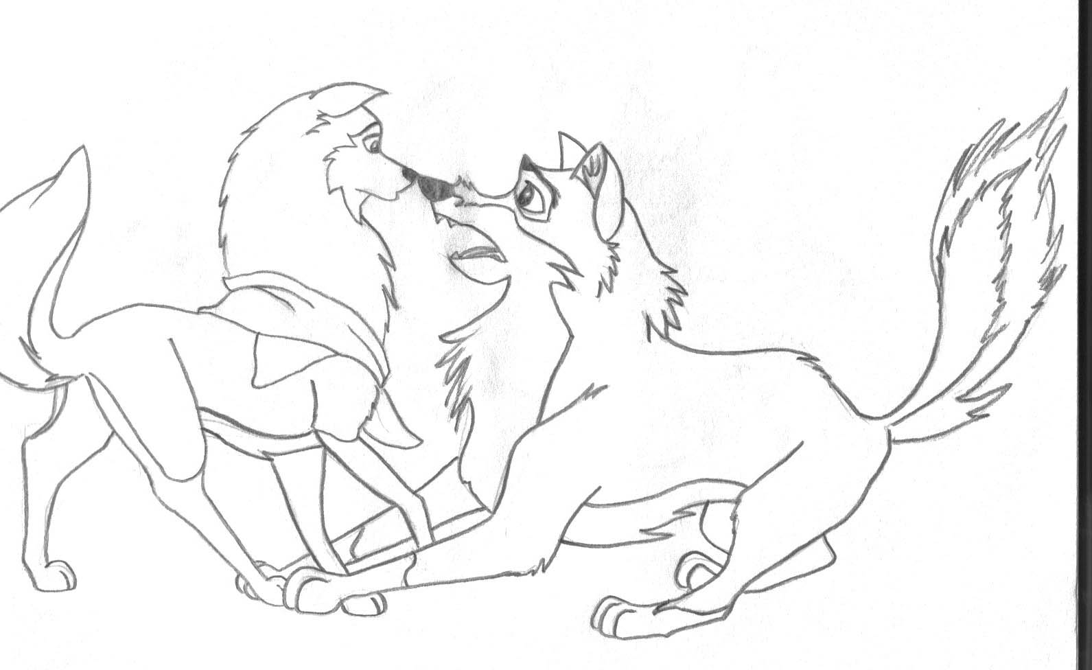 Balto and Jenna by meltrustsno1