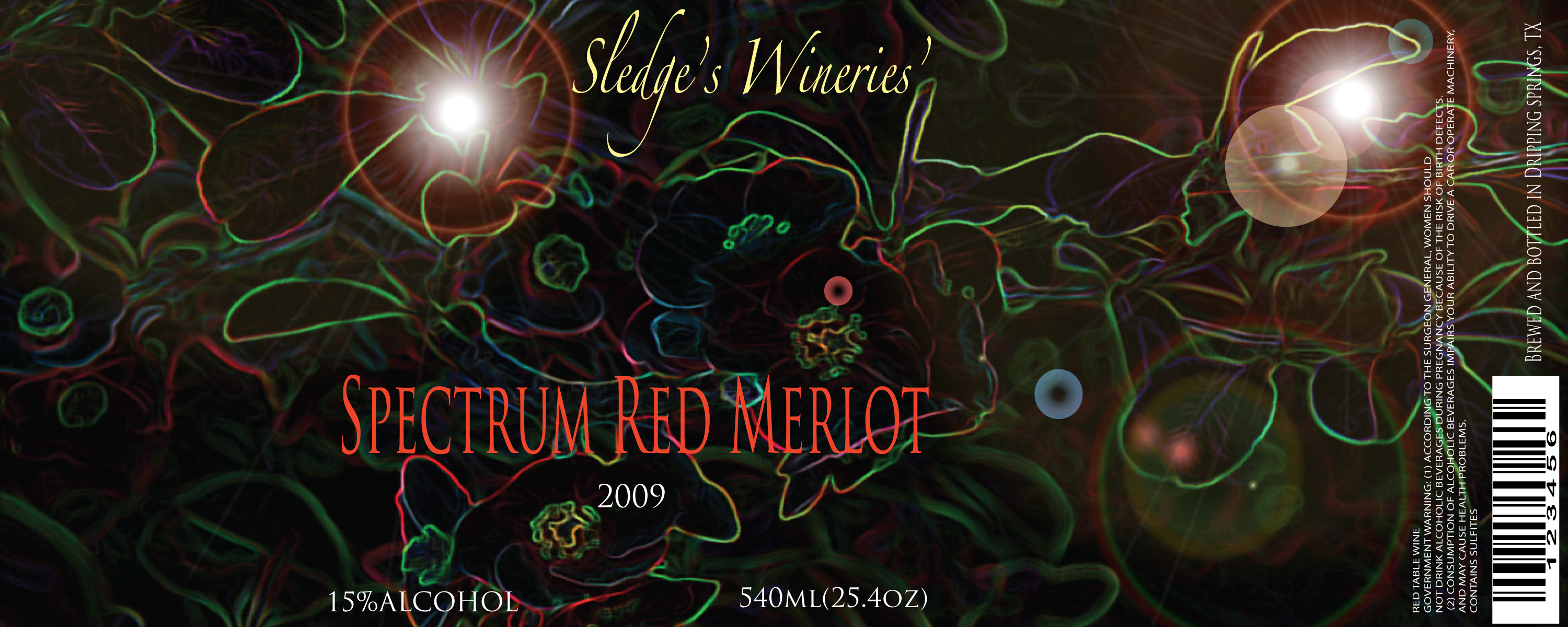 red merlot concept label by mendoza0089