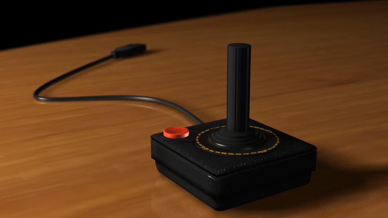 Atari 2600 Controller modeled in maya 8.5 by mendoza0089