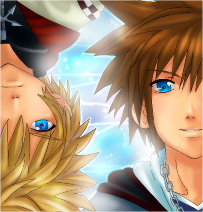 Kingdom Hearts 2- BHK and Sora by meruchan