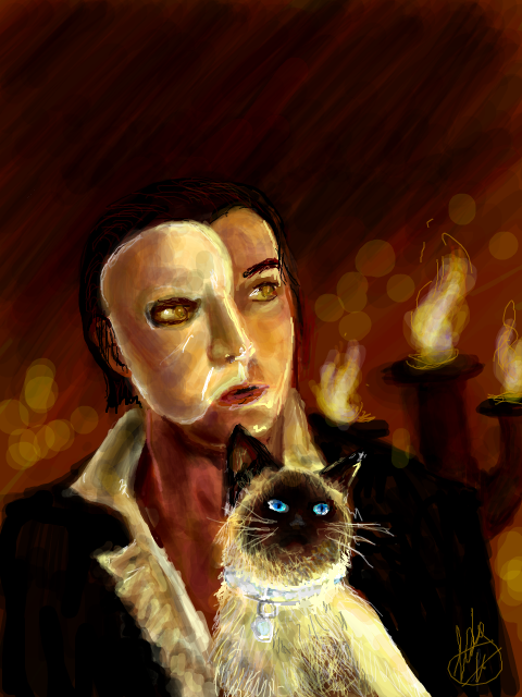 The Phantom and his Cat by michi_no