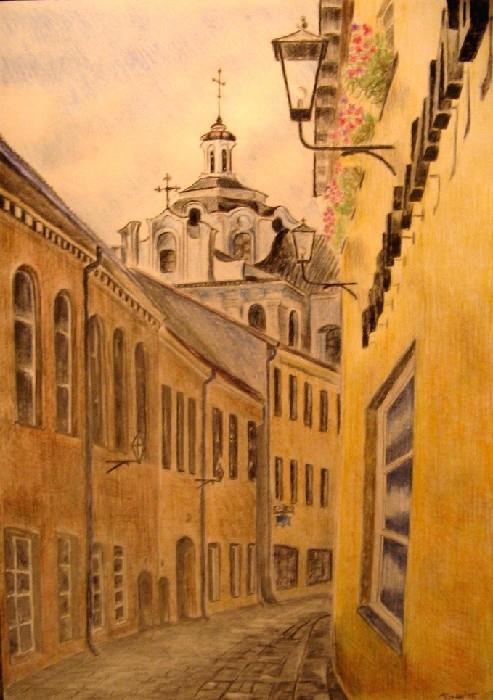 Vilnius' old town by mikepukuotukass