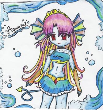 *Aquarius (colored)* by minerva28