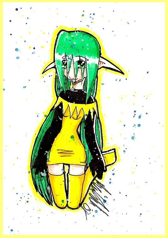 Yellow.Jester- by moonstar_neko