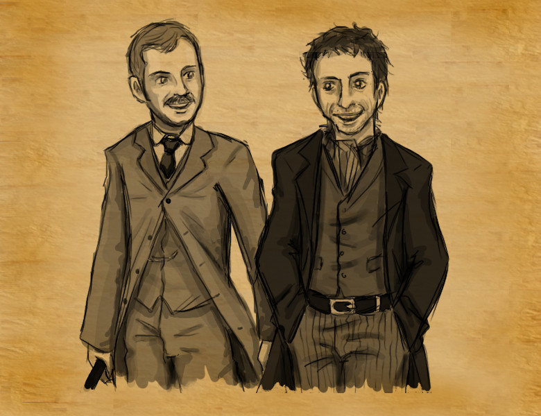 Holmes and Watson by mystic_rat_theif