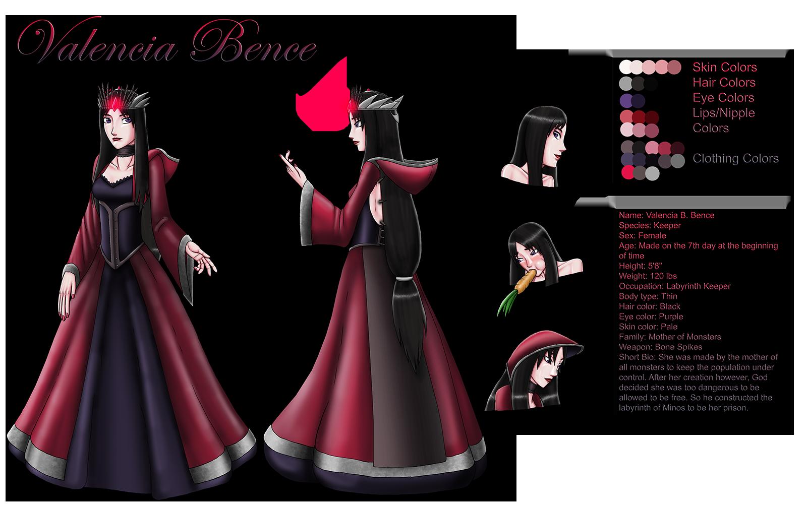 Valencia Bence Character Sheet by NIX