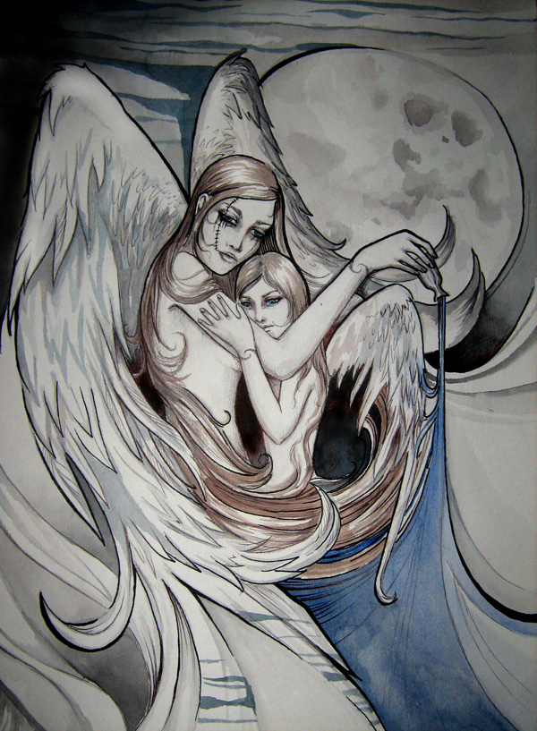 Sad angels by NaNaNa
