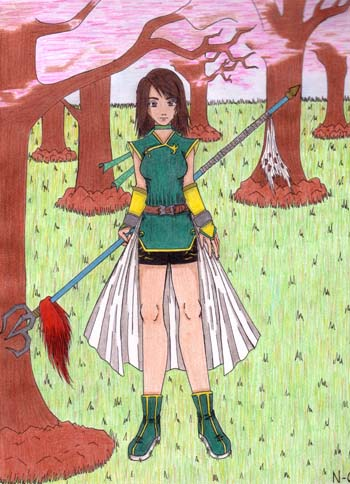 Me as a Dynasty Warriors character by Namiko-chan