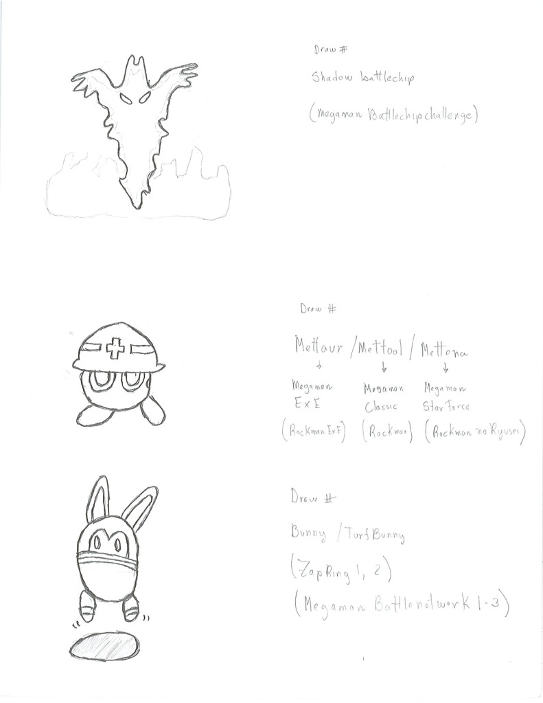 Mettaur, Shadow and Bunny viruses by Napalnman1231