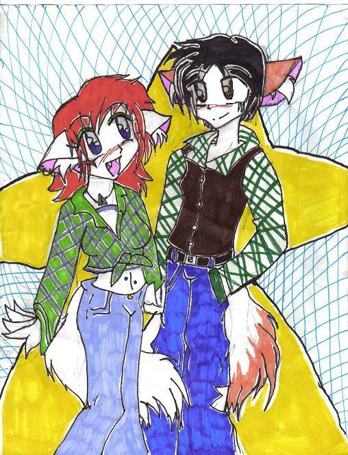 weeee It's Linda and Ash by NarakusSlaveandLover