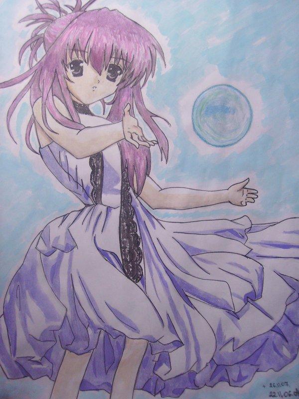 Girl with a ball by NatsukiKuga