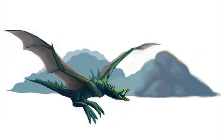 Cloud Dragon by Nefertiri