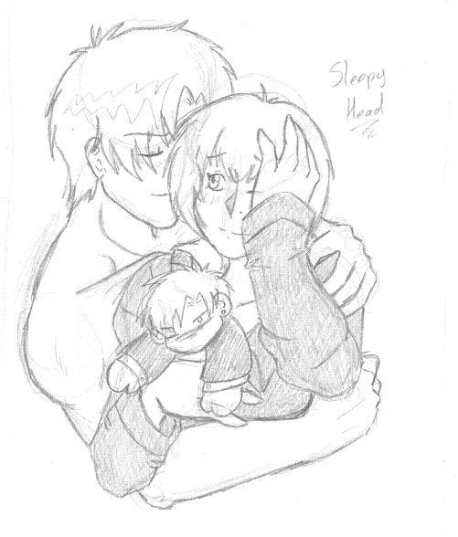 Sleepy Head Shuichi and Cuddly Yuki by NekoHellAngel