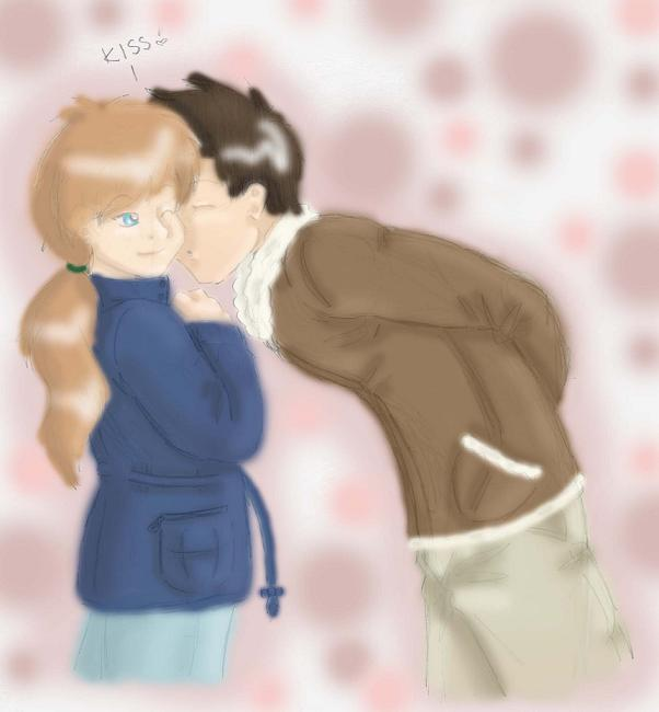 Me and Him #^_^# (coloured!) by NekoHellAngel