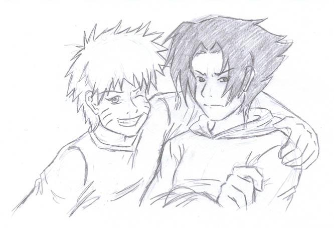 Sasuke and Naruto *gasps* No Yaoi! by NekoHellAngel