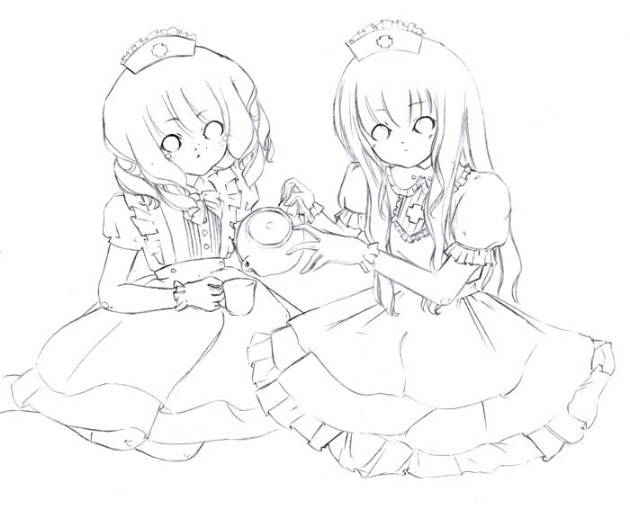 Tea Break For Two by NelleNinja