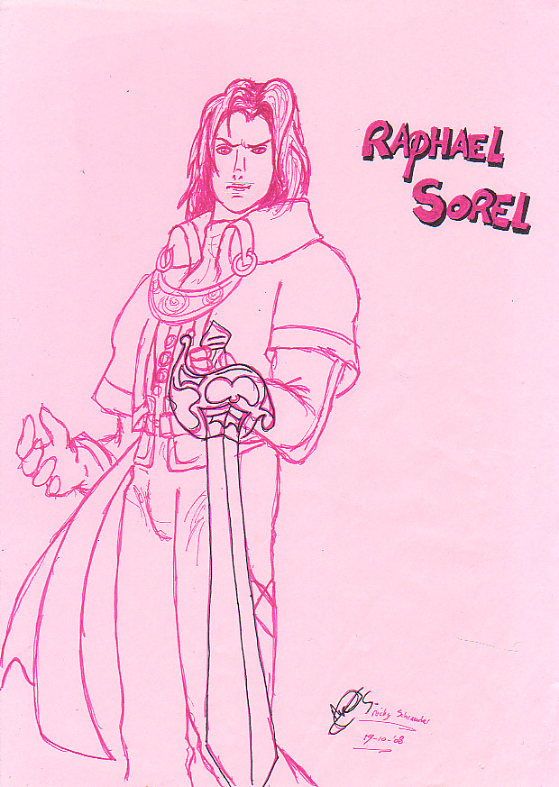 Sketch of Raphael Sorel by NickySchreuder