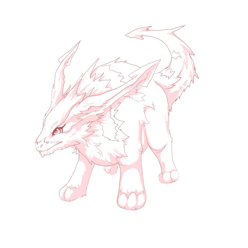 Cute creature sketch by Nicole1725