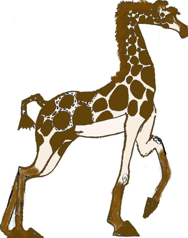 madagascar style giraffe by Nightkat