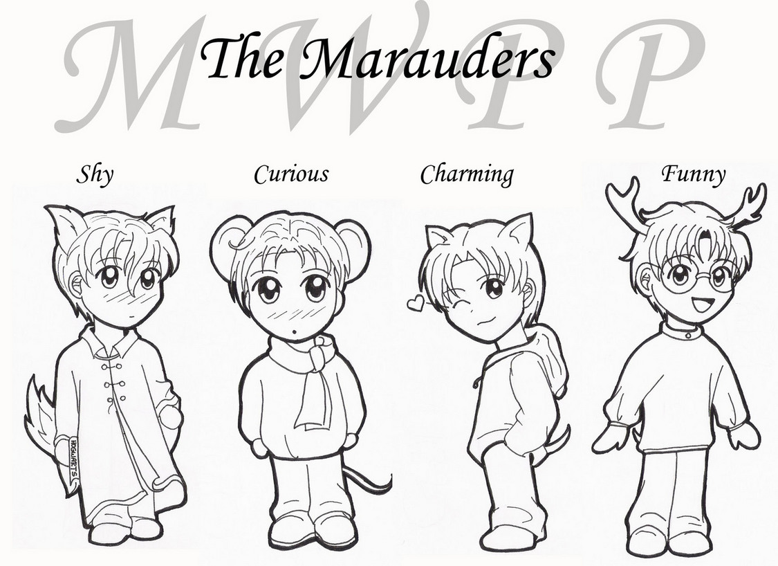 Chibi Marauders *cute* by Nimrodel