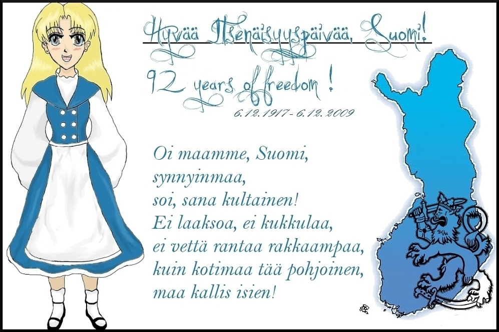 Happy Independence Day, Finland! by NinjaChan
