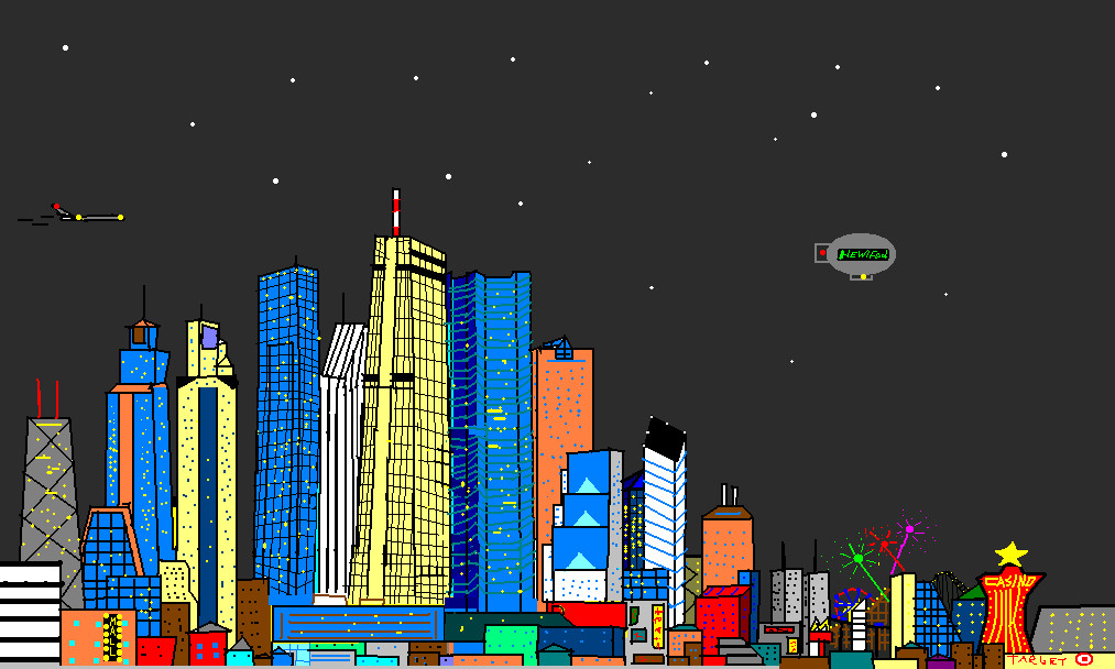 Sim City skyline by Nintendude07