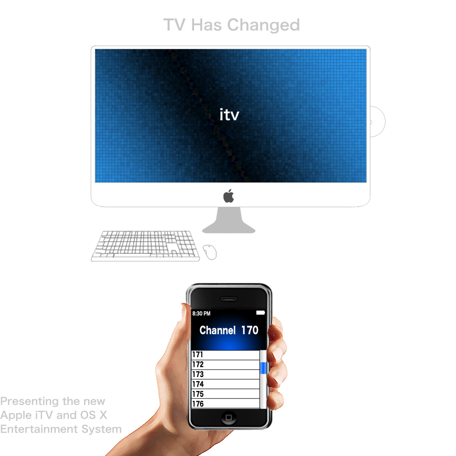 Apple iTV Television Concpet by Nintendude07