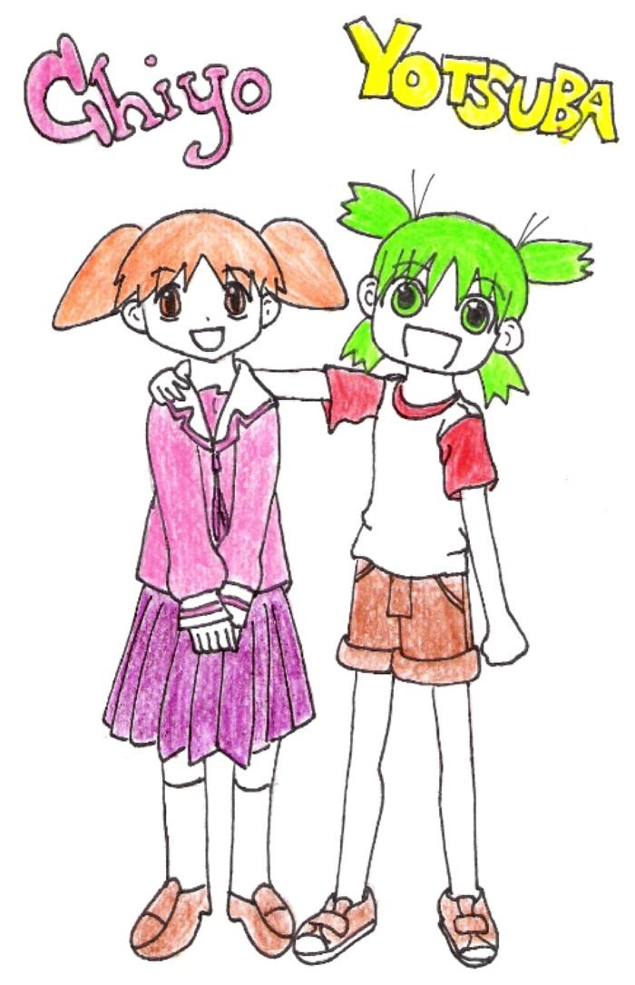Chiyo and Yotsuba by Nyazers