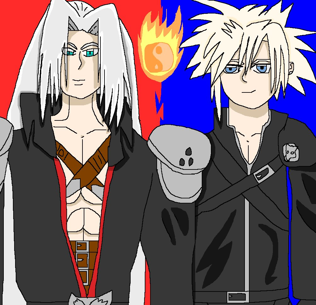 KH2 Sephiroth & Cloud by nellmccror