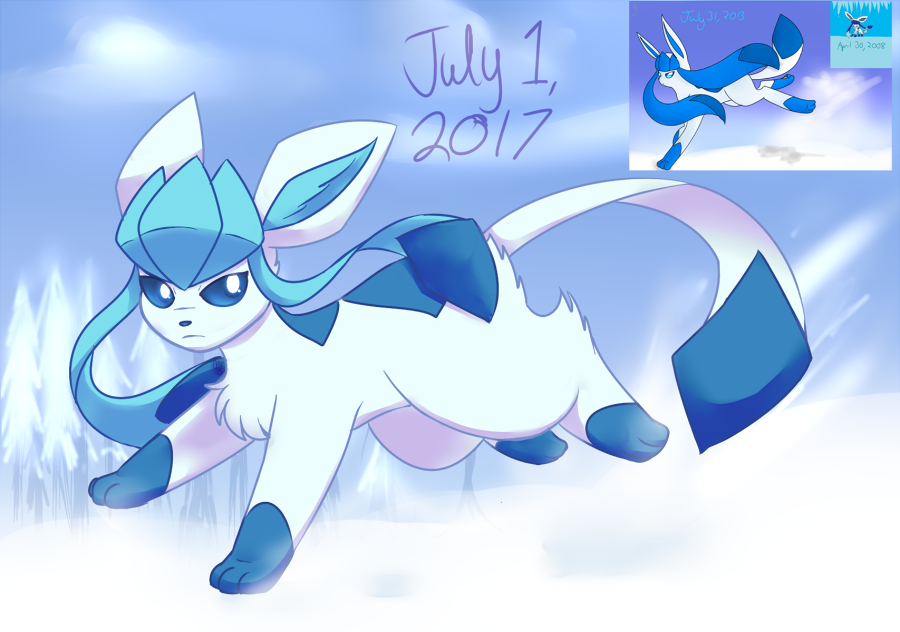 [REDRAW] Shiny Glaceon by nikki001997