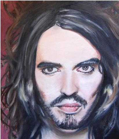 Russell Brand in oil paints. by nutellastella