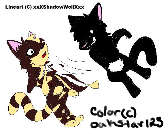 Tigerstar and Scourge collab by Oakstar123