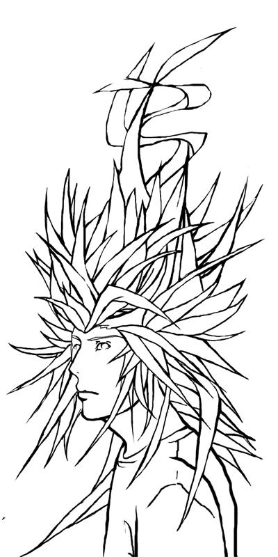 Goku inspired hair by Oki2