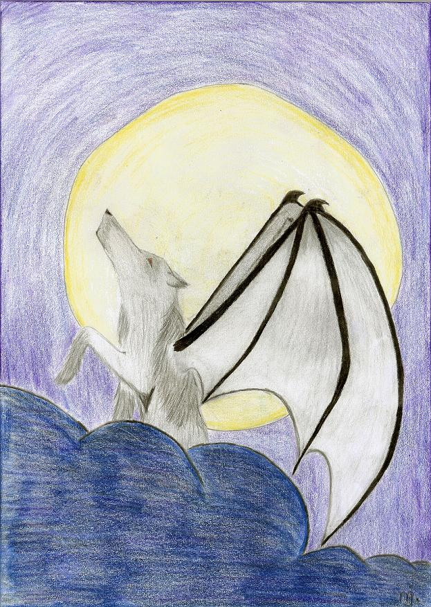 flying wolf by OliverandJames4ever
