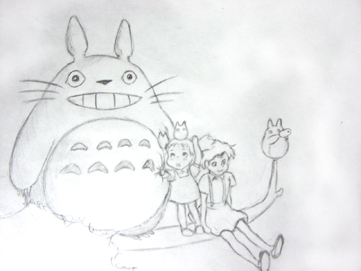 Totoro and Friends by OnyxRaven