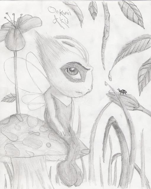 Celebi in the Forest by Ookami_Aku