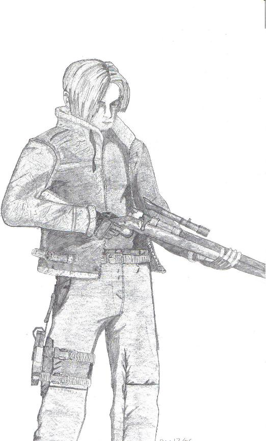 Leon with bolt-action rifle by Ordonian