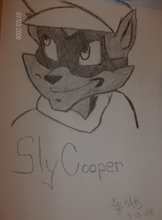 Sly Cooper Sketch by OrochimarusGal