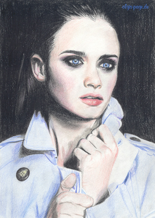 Alexis Bledel in color by olgi