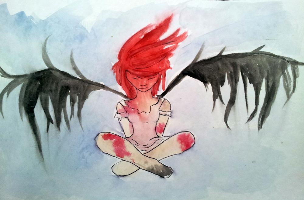 Red Angel by orianajones
