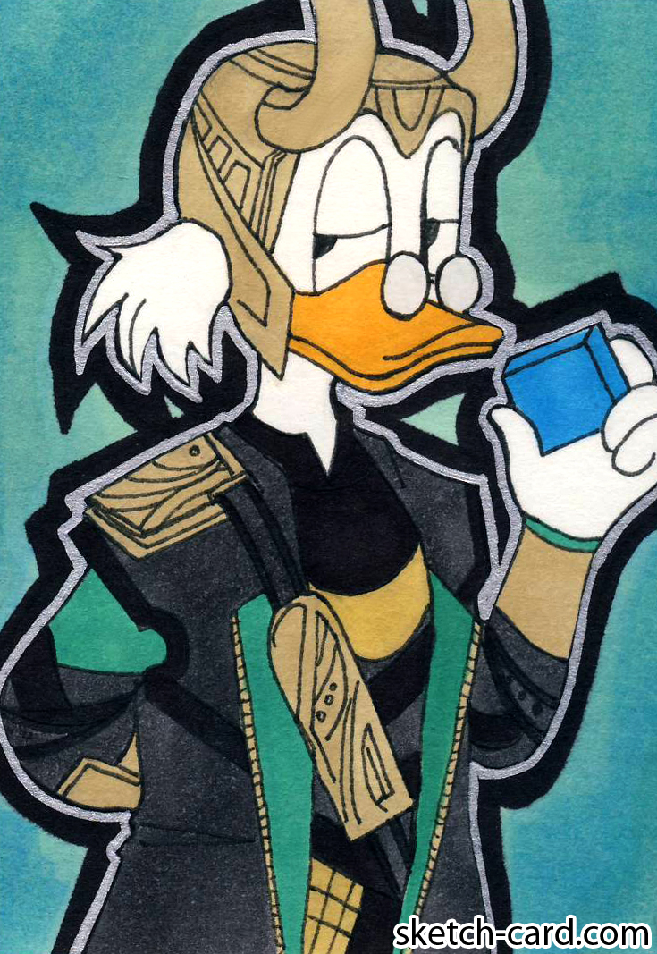 Loki - Scrooge McDuck crossover Disney by Pachecoclaire