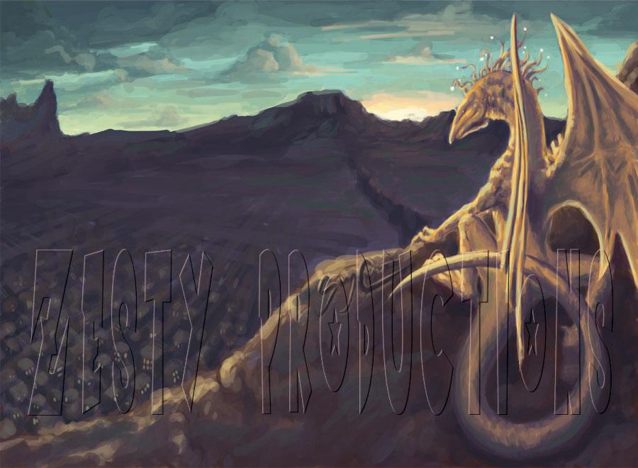 Green Sky Rising by Papercut_Dragon