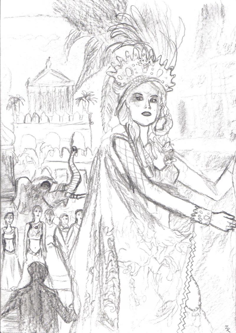 Carlotta in Hannibal sketch by PhantomSpiderpig