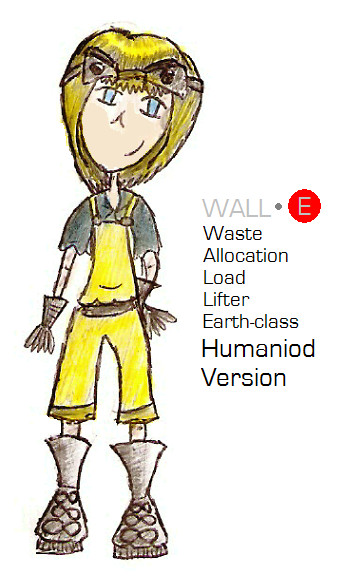 "WALL-E - or ""Wally"" - Humaniod Version by Ponella"