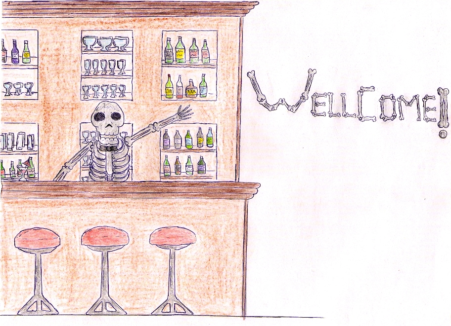 Skelleton Bartender by Porroro