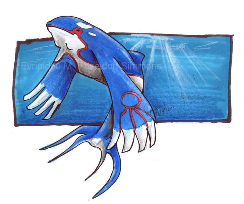 Kyogre Pokemon by Poseidon-Simmons