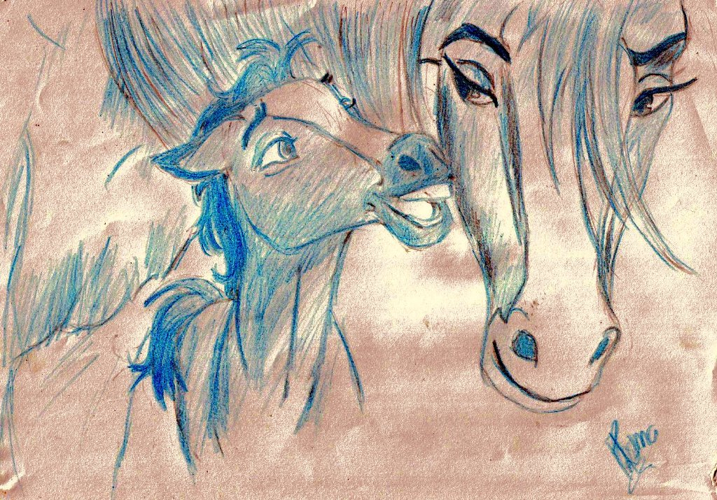 foal Spirit & mum. by Priss
