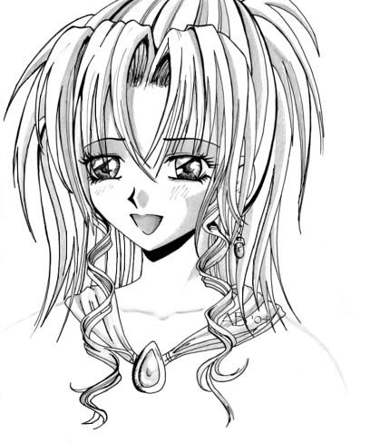 *Manga Girl* by PurplePrincess