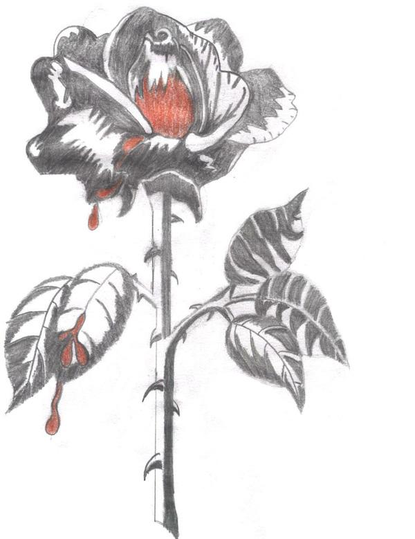 The Bleeding Rose by Pyro_grl